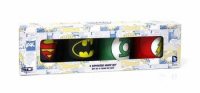 SET 4 MINI TAZAS CAFE CERAMICA LOGOS DC COMICS
