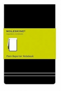 cuaderno moleskine. plain reported notebook
